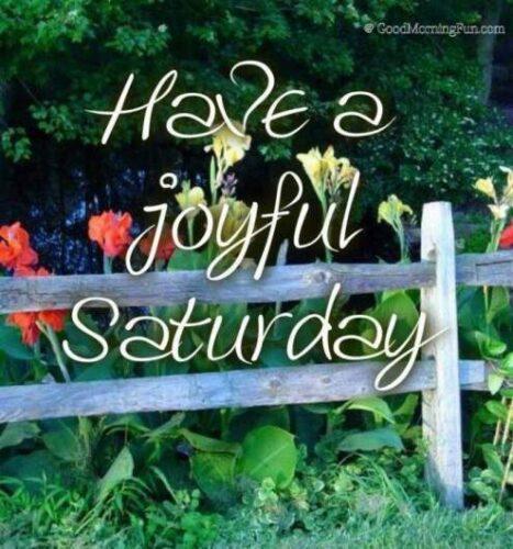 Have a joyful Saturday
