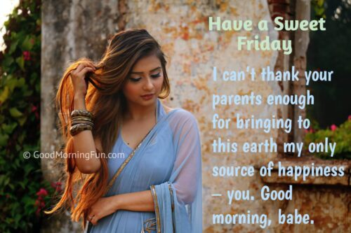 Good Morning Friday Wishes for Wife