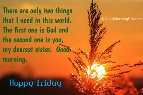 Happy Friday Quotes for Sister