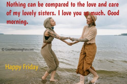Happy Friday Wishes for Sister
