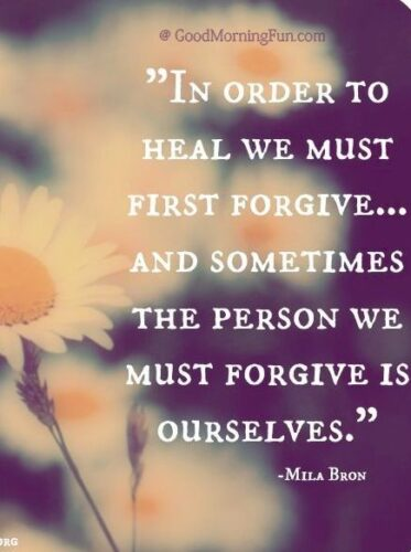 Forgive ourselves quotes