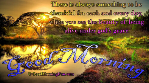 Good Morning Quotes on Thankful God Grace