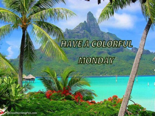 Have a colorful Monday