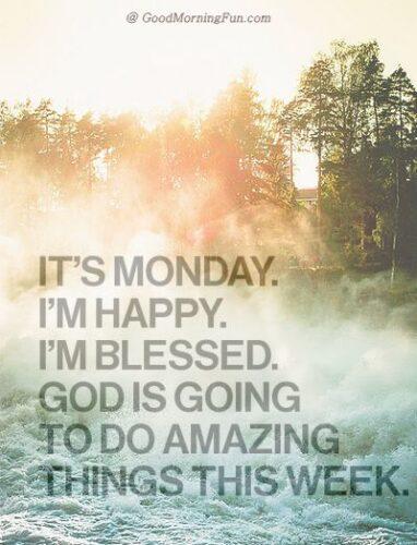 Monday inspirational message