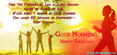 Happiness Quote - Good Morning Thursday