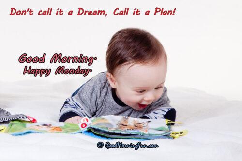 Dream VS Plan Good Morning Quote