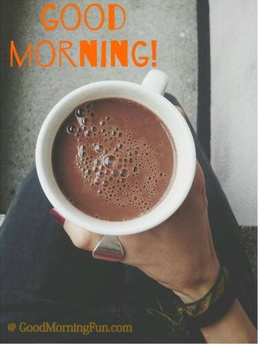 Good Morning With Coffee Cup in Hand