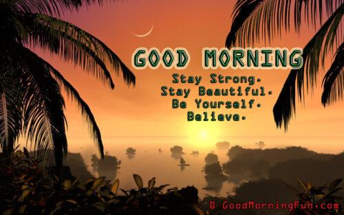 Beautiful Sun Rise Good Morning Quote