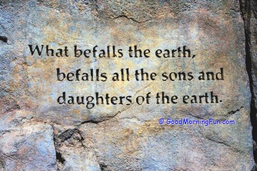 Befall the earth day quote