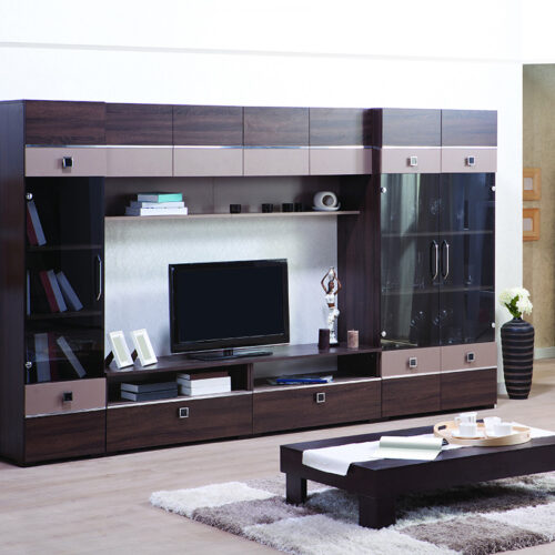 Classic glass covered TV unit for modern homes