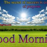 Good Morning Quotes on Success Purpose Constency