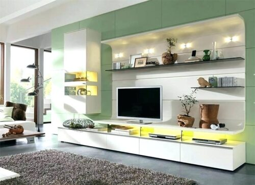 Modern corner TV units for living room - Wall unit design