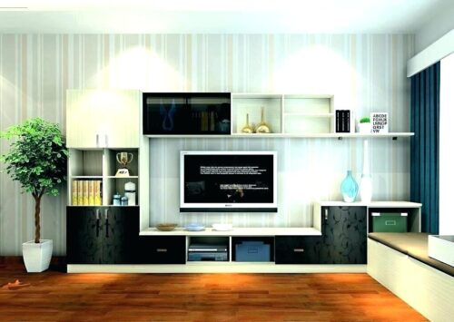 Modern living room home decorators collection blinds