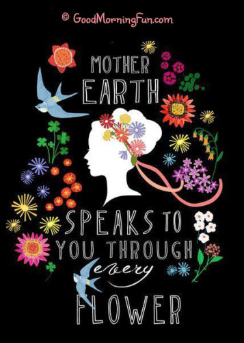 Mother earth speaks to you through every flower
