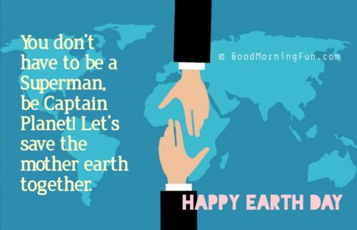 Save the mother earth message