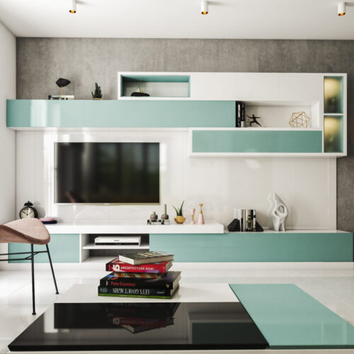 TV Cabinet - New model contemporary aqua