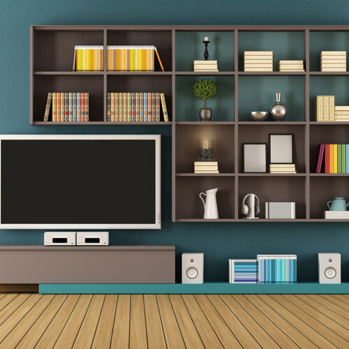 TV Cabinet with book Shelves