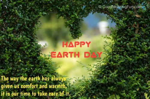 Take care of Earth Message