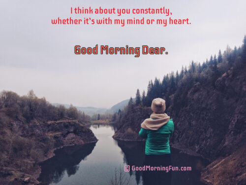 Thinking of you with my Heart - Good Morning
