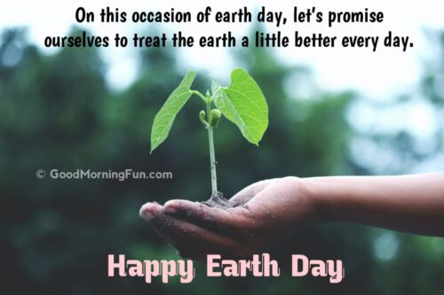 Treat the earth better Message