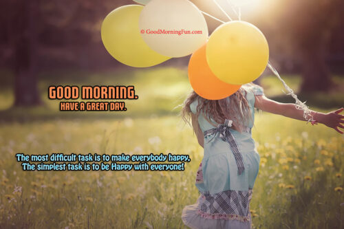 Be Happy with every one - Good Morning with Baloons