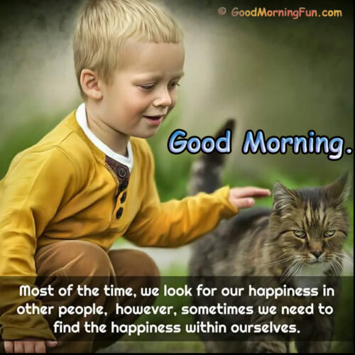 Good Morning Quote - Happiness