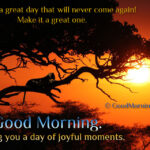Good Morning Quotes About Joy. Wishing you a day of Joyful moments.