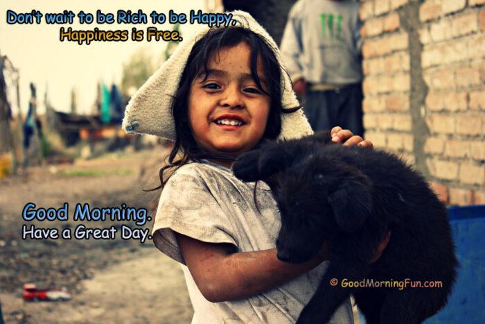 Happy Child - Good Morning Quote