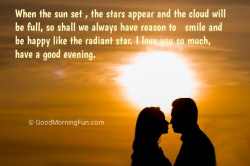 I love you - Good Evening love quotes