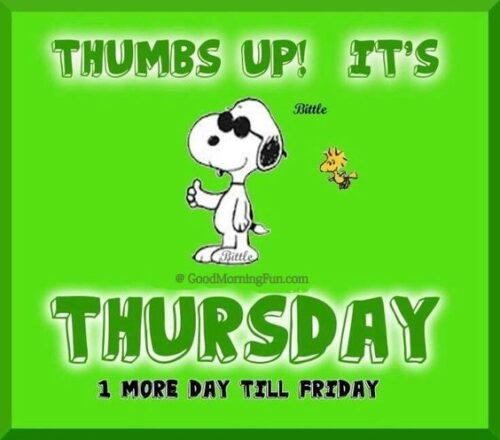Thumbsup - Its Thursday quote