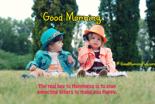 Enjoy life every moment of Life - Good Morning with Cute Baby Girls