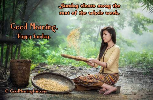 Good Morning - Happy Sunday Quote