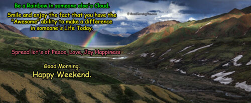 Happy Weekend with Beautiful Rainbow Quotes