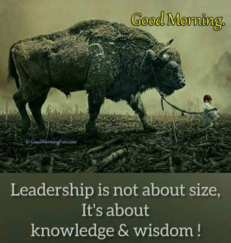Leadership Quotes - Good Morning