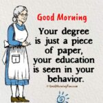 Good Morning Quotes on Personality - Character Quotes