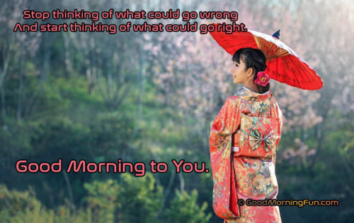 Avoid Negative thinking in the morning