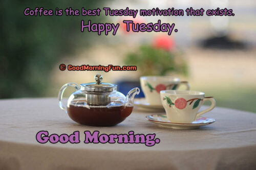 Coffee is the best Tuesday motivation that exists. Happy Tuesday