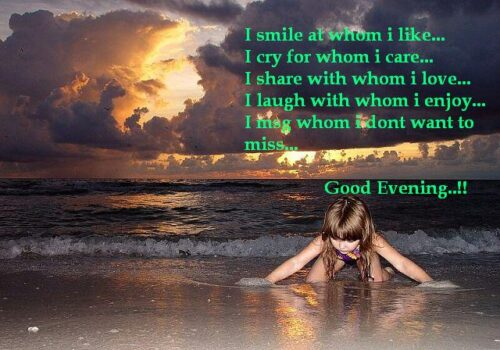 Evening miss you quote