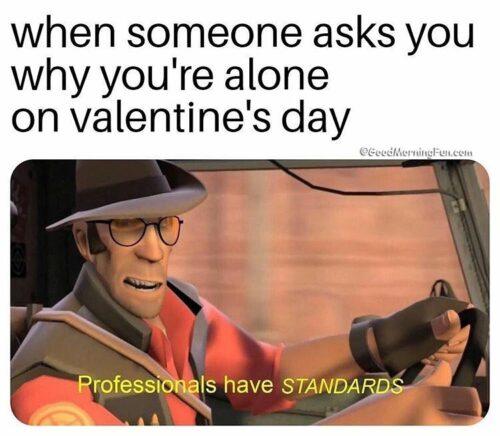 Funny Me on valentines day meme - Attitude