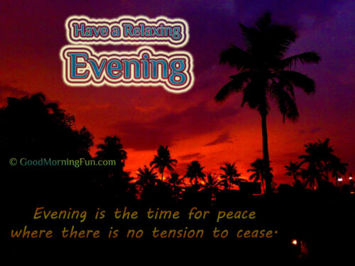 Good Evening Sunset Quotes