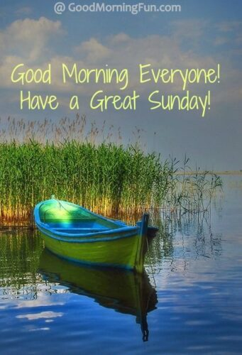 Good Morning Everyone - Have a great Sunday