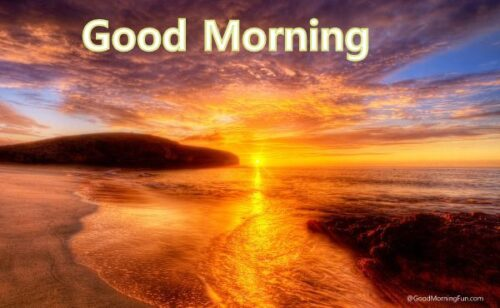 Good Morning Friends With Sunrise and sea