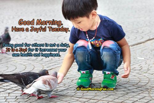 Good Morning - Have a Joyful Tuesday