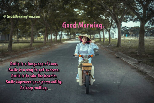Good Morning Quotes About Smile