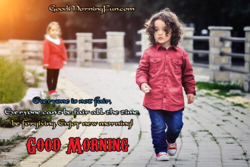 Good Morning Status to forgive everyone