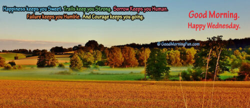 Good Morning Wednesday Banner Quotes