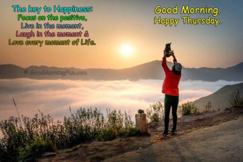 Happiness Thursday Quotes - Beautiful Sunrise