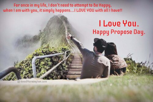 Happy Love Quotes on Propose Day
