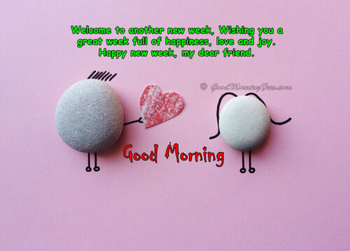 Happy New Week Ahead wishes for Lover
