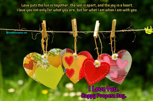 Happy Propose Day Quotes on Love